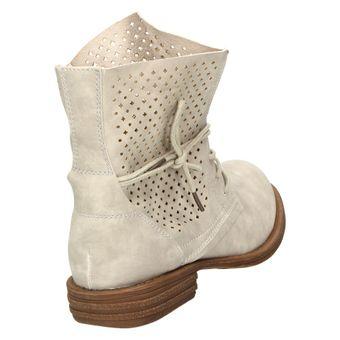 Jane Klain 251-129 Damen Schuhe Combat-Boots Stiefelette Schnürschuh Stiefelette Leder-Optik – Bild 4