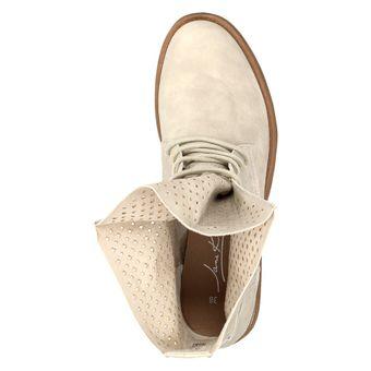 Jane Klain 251-129 Damen Schuhe Combat-Boots Stiefelette Schnürschuh Stiefelette Leder-Optik – Bild 6