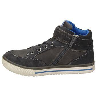 Indigo Kinder Jungen Winter High-Top Sneaker Leder Turnschuhe Reißverschluss – Bild 4