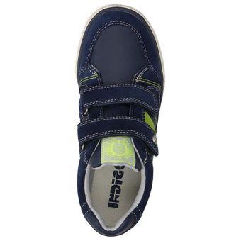 Indigo Kinder Jungen Schuhe Klettverschluss Turnschuhe Freizeit Sneaker Leder Halbschuhe  – Bild 5
