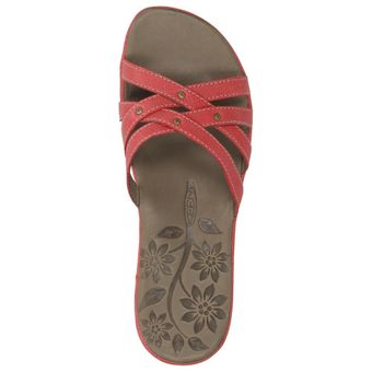 Keen City of Palms Slide Damen Schuhe Freizeit Sandale Riemchen Leder Slipper Nieten – Bild 11