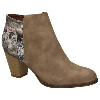 Bruno Banani 253-336 Damen Schuhe Freizeit Stiefelette Ankle Boots Leder-Optik Blumenmuster – Bild 2