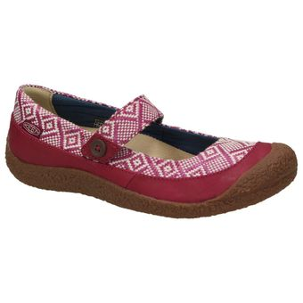 Keen Harvest MJ Button Damen Schuhe Leder Riemen Ethno Ballerinas Mary-Jane Slipper Freizeit 001