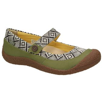 Keen Harvest MJ Button Damen Schuhe Leder Riemen Ethno Ballerinas Mary-Jane Slipper Freizeit – Bild 7