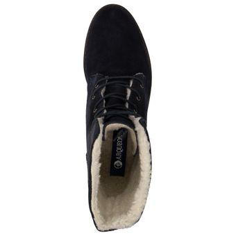 Arqueonautas Damen Schuhe Winter Boots Stiefel gefütterte Schnürboots Leder Teddyfell – Bild 5