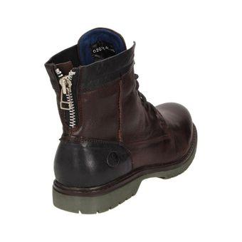 Arqueonautas Dover Herren Schuhe Leder Schnürstiefel Combat Boots Reißverschluss – Bild 9