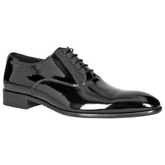 ZWEIGUT® -Hamburg- piekfein #102 Herren Lack Leder Schuh Oxford Schnürschuhe Business Smoking Hochzeit Weite G – Bild 3