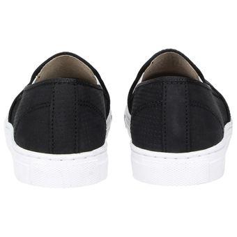 ZWEIGUT® -Hamburg- smuck #201 Damen Sommer Schuhe Slip-On Leder Slipper Fashion Lochmuster Nubukleder – Bild 5