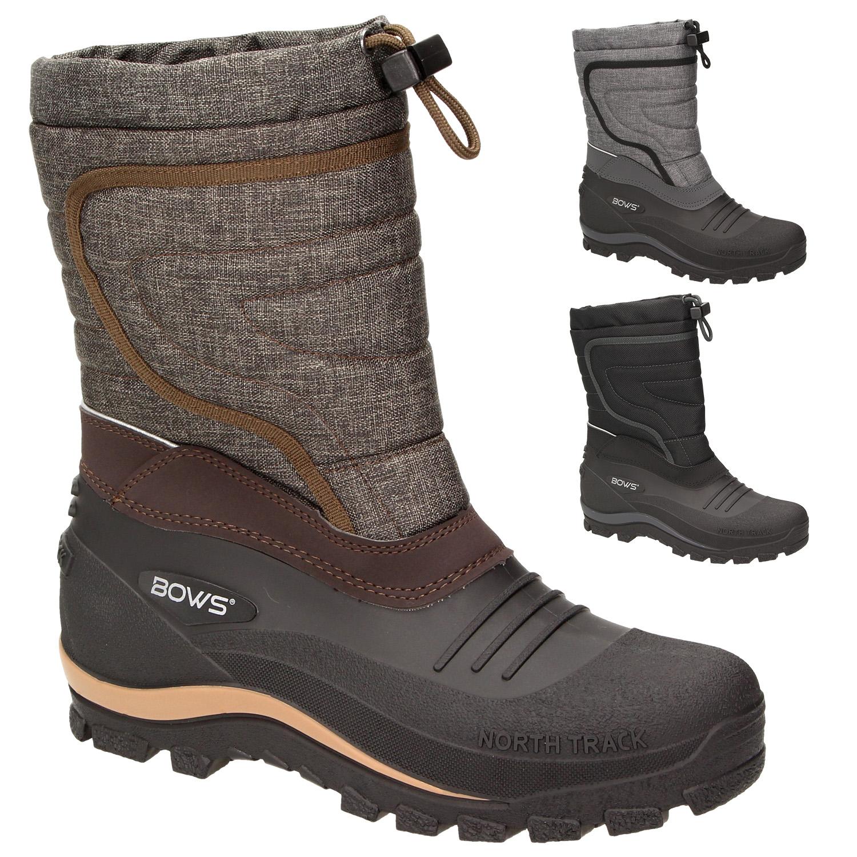 7fefcc1fb397c5 BOWS® -BENTE- Herren Damen Kinder Unisex Schnee Stiefel Winter Boots Schlupf  Schuhe gefüttert