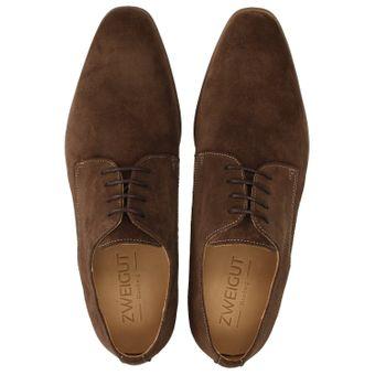 ZWEIGUT® smuck #251 Business Schuhe Herren Derby Schnürer Veloursleder Schnürhalbschuhe – Bild 6