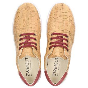 ZWEIGUT® echt #401 Kork Allwettertauglich Schuhe Damen Halbschuhe Sneaker, vegan + nachhaltig aus echtem Kork – Bild 6