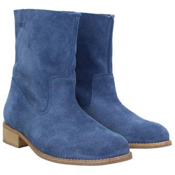 ZWEIGUT® smuck #210 Damen Lederboots Stiefelette Wildleder schmale Fußbreite Schuhe leicht und weich 001