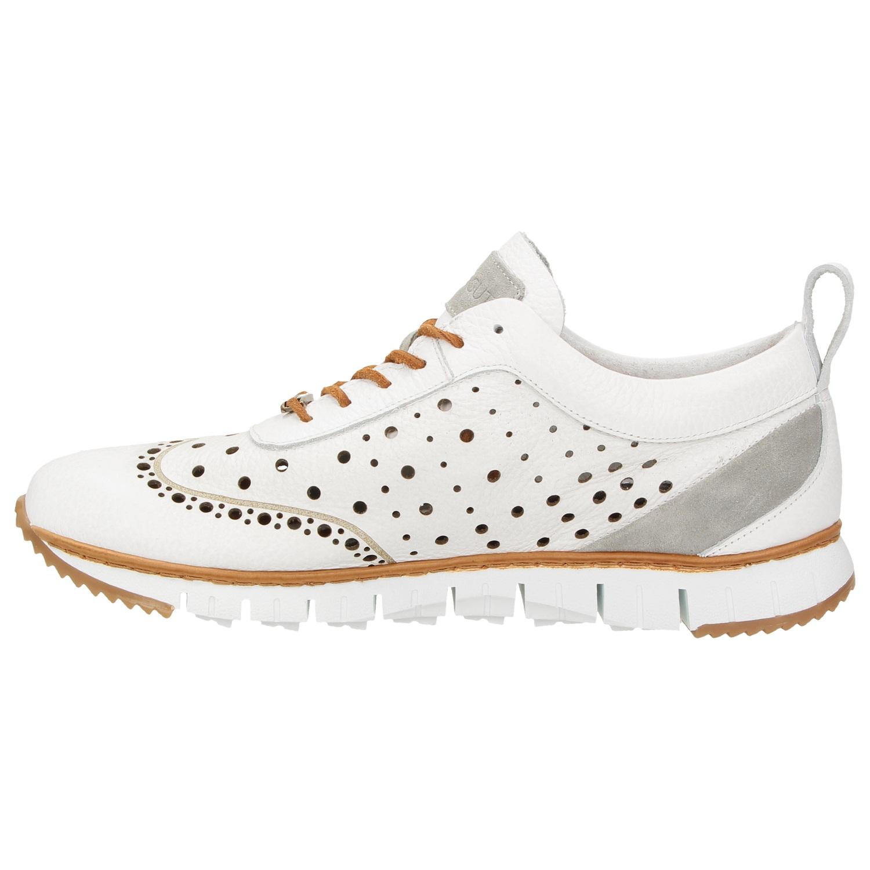 ZWEIGUT® -Hamburg- komood  356 Herren Sneaker Leder Schuhe luftiges Brogue- Muster 6ebb75d68f