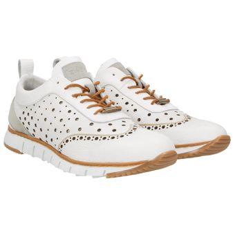 ZWEIGUT® -Hamburg- komood #356 Herren Sneaker Leder Schuhe luftiges Brogue-Muster auf extrem flexibler Sohle 001