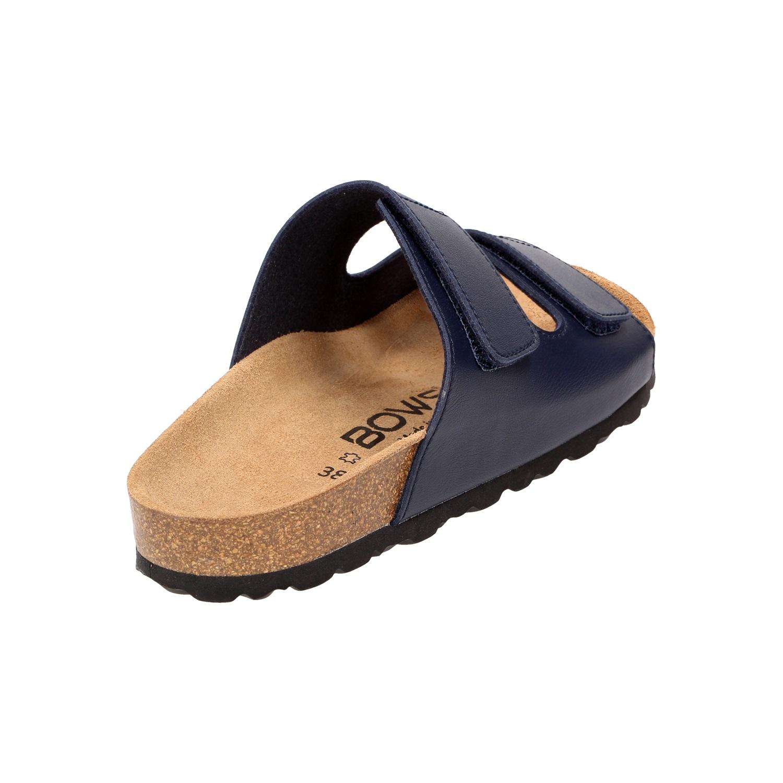 Sandalen Flach Fußbett Klett Bows® Schuhe Rosi Damen Leder dtQrCxsh