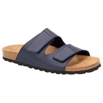 BOWS® Schuhe -ROSI- Damen Klett-Sandalen flach Leder-Fußbett Hausschuhe Clogs Pantoletten Pantoffeln Zweierriemen rutschhemmend – Bild 7