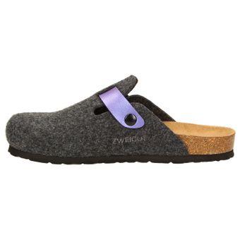 ZWEIGUT® -Hamburg- komood #345 Pantoffeln Hausschuhe Damen Komfort Wollfilz Puschen Clogs Latschen Leder-Komfort-Fußbett – Bild 4