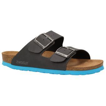 ZWEIGUT® -Hamburg- luftig #550 Pantolette Damen Sandale Leder-Komfort-Fußbett Sommer Schuhe 2er-Riemen – Bild 2