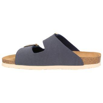ZWEIGUT® -Hamburg- luftig #550 Pantolette Damen Sandale Leder-Komfort-Fußbett Sommer Schuhe 2er-Riemen – Bild 4