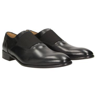 49d3de35325b30 ZWEIGUT® -Hamburg- smuck  253 Herren Oxford Leder Business Schuhe mit  Gummizug
