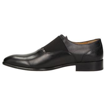 ZWEIGUT® -Hamburg- smuck #253 Herren Derby Leder Business Schuhe mit Gummizug – Bild 4