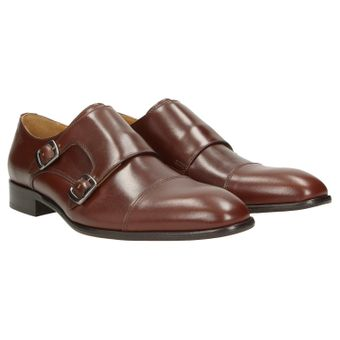 ZWEIGUT® -Hamburg- smuck #257 Schuhe Monkstrap Herren Double Monk-Strap Leder Schuh Business Shoe Slipper 001