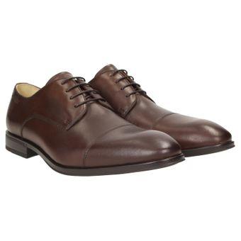 ZWEIGUT® -Hamburg- smuck #272 Herren Leder Cap-Toe Derby Business Schuhe Komfort-König Sneaker-Gefühl Leicht Flexibel 001