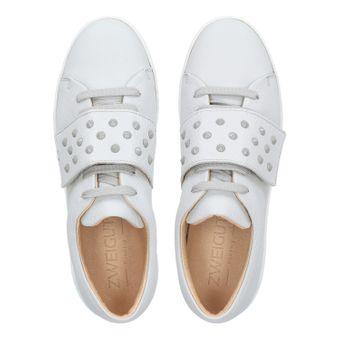 ZWEIGUT® komood #335 Damen Leder Sneaker Sommer Schuh Schnürer Klett leicht Pastell Skandinavisch – Bild 6