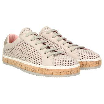 ZWEIGUT® komood #333 Damen Sommer Sneaker Leder Schuh Freizeit offen luftig Kork leicht 001