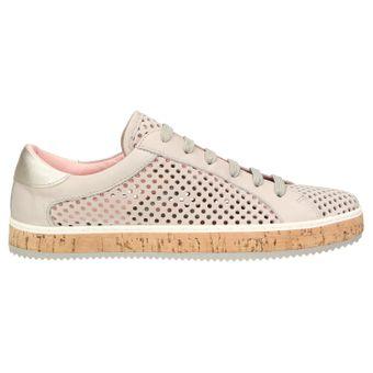 ZWEIGUT® komood #333 Damen Sommer Sneaker Leder Schuh Freizeit offen luftig Kork leicht – Bild 3