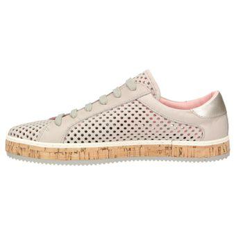 ZWEIGUT® komood #333 Damen Sommer Sneaker Leder Schuh Freizeit offen luftig Kork leicht – Bild 4