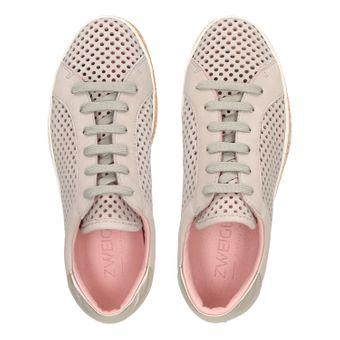 ZWEIGUT® komood #333 Damen Sommer Sneaker Leder Schuh Freizeit offen luftig Kork leicht – Bild 6