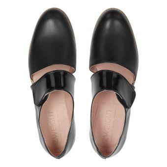 ZWEIGUT® smuck #245 Damen Sommer Schuh Leder Sandale Klett Sneaker metallic – Bild 6