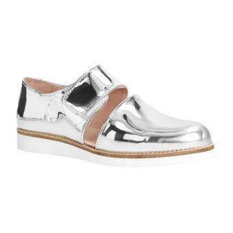 ZWEIGUT® smuck #245 Damen Sommer Schuh Leder Sandale Klett Sneaker metallic – Bild 2