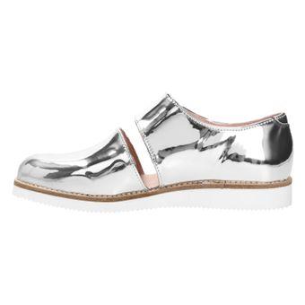 ZWEIGUT® smuck #245 Damen Sommer Schuh Leder Sandale Klett Sneaker metallic – Bild 4