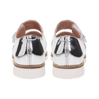 ZWEIGUT® smuck #245 Damen Sommer Schuh Leder Sandale Klett Sneaker metallic – Bild 5