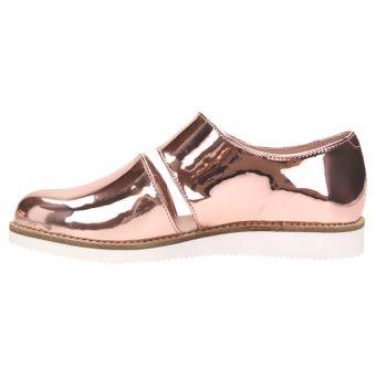 ZWEIGUT® smuck #245 Damen Sommer Schuh Leder Sandale Klett Sneaker metallic – Bild 3