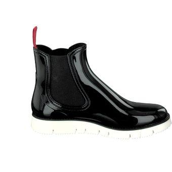 Gosch Shoes Sylt Damen Stiefeletten Chelsea Boots 7105-320 Schuhe schwarz Gummisohle Freizeit Spaziergang Gummi Strand Regen – Bild 17