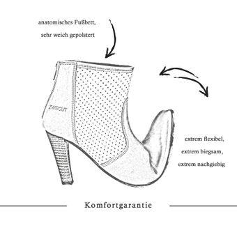 ZWEIGUT® -Hamburg- komood #310 Damen Sommer Stiefelette Schuh extrem komfort Nubukleder auf flexibler Sohle atmungsaktiv – Bild 8