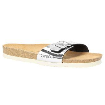 ZWEIGUT® -Hamburg- luftig #551 Damen 1- Riemen Sandalen Schuhe Sommer mit Leder-Komfort-Fußbett – Bild 2