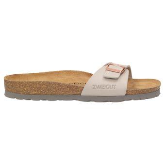ZWEIGUT® -Hamburg- luftig #551 Damen 1- Riemen Sandalen Schuhe Sommer mit Leder-Komfort-Fußbett – Bild 3