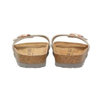 ZWEIGUT® -Hamburg- luftig #551 Damen 1- Riemen Sandalen Schuhe Sommer mit Leder-Komfort-Fußbett – Bild 5