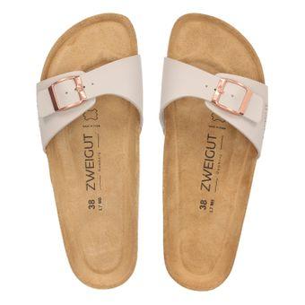 ZWEIGUT® -Hamburg- luftig #551 Damen 1- Riemen Sandalen Schuhe Sommer mit Leder-Komfort-Fußbett – Bild 6