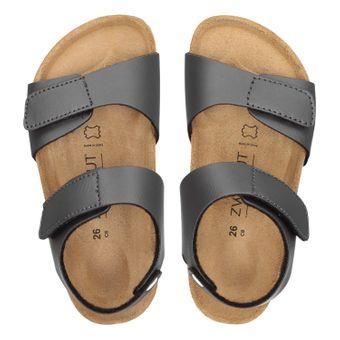 ZWEIGUT® -Hamburg- luftig #502 Kinder Klett-Sandale Mädchen Sommer Schuh mit weichem Leder-Komfort-Fußbett – Bild 6