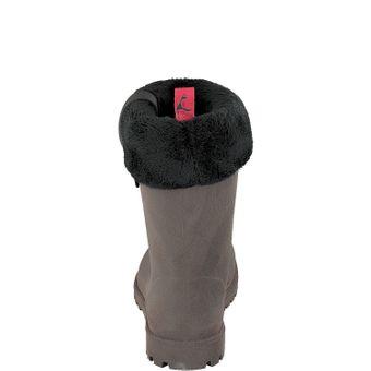 Gosch Shoes Sylt Damen Gummi Winter Stiefel 7119-501 dunkelbraun gefütterte Boots wasserdicht Regen Wasser Wald Freizeit – Bild 3