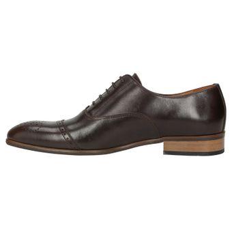 ZWEIGUT® -Hamburg- smuck #259 Herren Leder Schuh Oxford Round Cap-Toe Business  – Bild 4