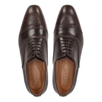 ZWEIGUT® -Hamburg- smuck #259 Herren Leder Schuh Oxford Round Cap-Toe Business  – Bild 6