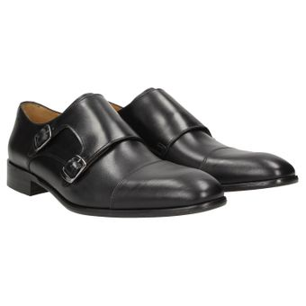 ZWEIGUT® -Hamburg- smuck #257W Schuhe Monkstrap Herren Double Monk-Strap Leder Schuh Business Shoe Slipper 001