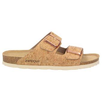 ZWEIGUT® -Hamburg- luftig #550 Sandale Damen Pantolette Leder Komfort Fußbett Sommer Schuhe 2er-Riemen – Bild 3