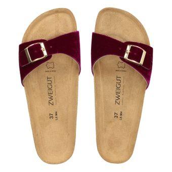 ZWEIGUT®  luftig #551 Damen 1- Riemen Sandalen Schuhe Sommer mit Leder-Komfort-Fußbett – Bild 6
